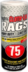 Intex White Heavy Duty Cloth-Like Rags 75 Count Roll