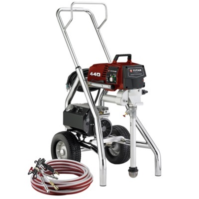 Titan multifinish 440 air assisted airless sprayer 0524029 for Air or airless paint sprayer