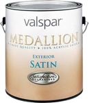 Valspar Medallion Exterior Acrylic Latex Paint Satin White 4400