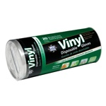 West Chester 20 Count Vinyl Disposable Gloves Tube