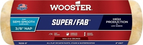 1-Inch Nap Wooster Brush R242-18 Super//Fab Roller Cover 18-Inch