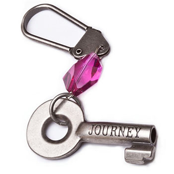 Jewel Tone Journey Keychain