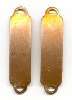 ID bracelet connectors, brass, 38.5mm x 10mm
