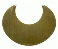 "Brass necklace base, 4 1/4"" x 3 1/4"""