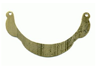 "Flat brass necklace base, 2 3/4"" x 1/2"""