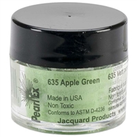 Pearl Ex powdered pigment, Apple Green, 3 gram jar