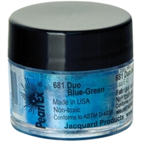 Pearl Ex powdered pigment, Duo Blue-Green, 3 gram jar