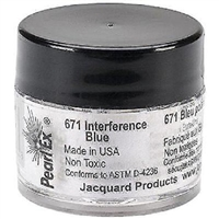 Pearl Ex powdered pigment, Interference Blue, 3 gram jar