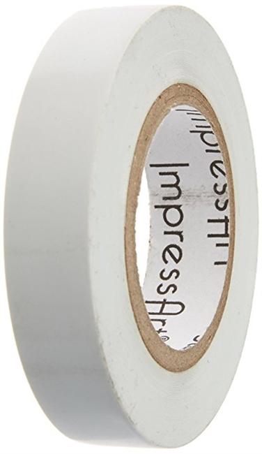 White Stamp Straight Tape