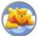 Bedtime Pooh Logo Tongue or Belly Ring