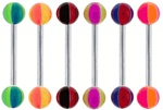 Bio Ball Tongue Ring 100 Pack
