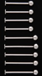 Cheek Piercing Barbell 100 Pack