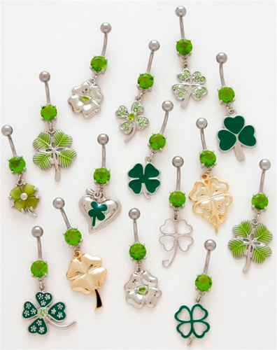 2980505dc Clover Dangle Belly Ring