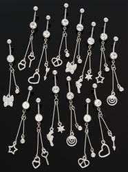 Cute Long Dangle Belly Ring