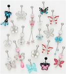 CZ Butterfly Belly Ring