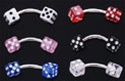 Dice Eyebrow Rings 100 Pack
