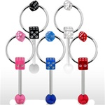 Dice Knocker Tongue Ring
