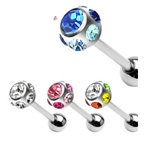 Eternity Ball Gem Tongue Ring