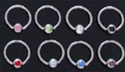 Gem Captive Bead Rings 100 Pack
