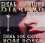 Gold Diamond Nose Bone