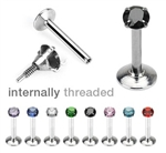 Prong Set Internally Threaded Gem Monroe