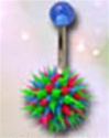 Koosh Ball Belly Rings 100 Pack