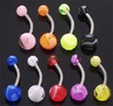 Marble Belly Rings 100 Pack