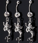Mermaid C.Z. Belly Ring