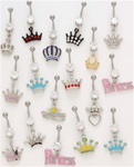 Princess Crown Dangle Belly Ring
