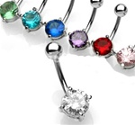 Prong Set Gem Belly Ring
