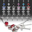 Skull Cross Dangle Dangle Belly Ring