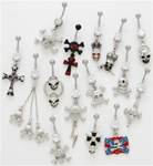 Skull Dangle Belly Ring