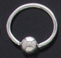 Stainless Steel Captive Bead Rings 100 Pack