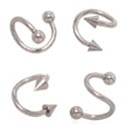 Stainless Steel Twisted Spiral Ring 100 Pack