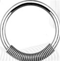 Steel Spring Captive Bead Ring