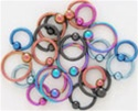Titanium Captive Bead Rings 100 Pack