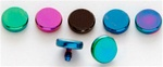 Titanium Anodized Flat Disc Dermal Top 10 Pack