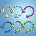 Wholesale Titanium Anodized Horseshoes