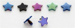 Titanium Star Dermal Anchor Top
