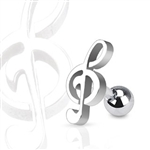Treble Clef Music Note Tragus Ring