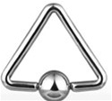 Triangle Shaped Captive Bead Ring
