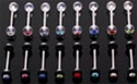 UV Gem Ball Tongue Ring