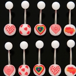 VALENTINE'S HEART BELLY RINGS