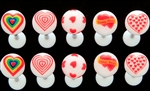 VALENTINE'S HEART TONGUE BARBELLS