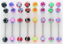 Windmill Ball Tongue Rings 100 Pack