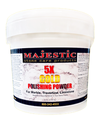 Majestic 5X Gold Polishing Powder for Marble, Travertine, Limestone 5 Extra