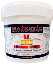 Majestic 5X Gold Polishing Powder for Marble, Travertine and Limestone (Stone Care)