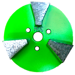 Mag 3 inch 3 seg Concrete Diamond Grinding Disc 30 Grit