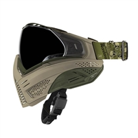 Push Unite Paintball Goggle - Tan / Olive with HD Lens and Sandana Strap