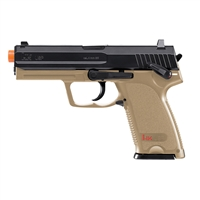 HK USP CO2 Airsoft Pistol with Fixed Metal Slide and Metal Magazine - DEB